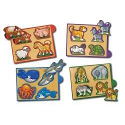 Melissa & Doug Animals Mini-Puzzle Pack - Thumbnail 1