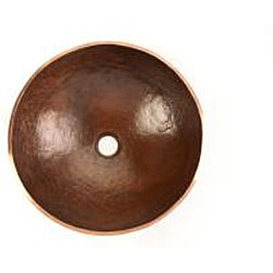 Thumbnail 2, Handmade Old World Copper Vessel Sink (Mexico). Changes active main hero.
