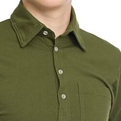 American Apparel Unisex Olive Cotton Leisure Shirt