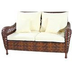 ... Wicker Lane Outdoor Wicker 4 Piece Patio Furniture Conversation Set    Thumbnail 1 ...