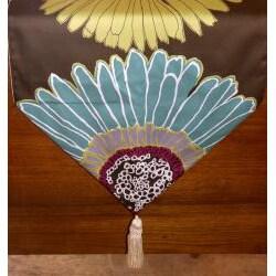 RLF Home Flower Power Tasseled Table Runner