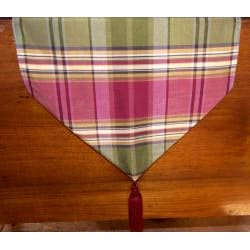 RLF Home Galahad Plaid Tassel Table Runner - Thumbnail 1