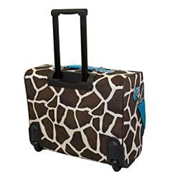 American Flyer 'Teal Giraffe' 17-inch Rolling Carry-On