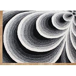 Alliyah Handmade White Flowers New Zealand Blend Wool Rug (5' x 8')