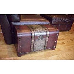 ... Old Fashioned Medium Wood Storage Chest ...
