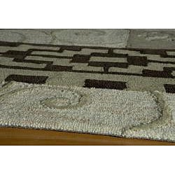 Hand Tufted Montage Patchwork Multi Rug (7'6x9'6) - Thumbnail 1