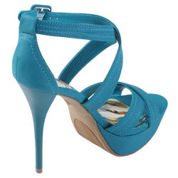 Journee Collection Women's 'Dynamite' Strappy Platform Stilettos - Thumbnail 1