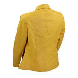 Women's Modern Flair Yellow Leather Jacket (Ecuador) - Thumbnail 1