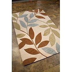 Shop Hand Tufted Ivory Leaf Area Rug 5 X 7 6 Free