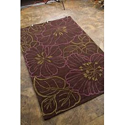 Hand-tufted Brown Multicolor Rug (3'6 x 5'6) - Thumbnail 1