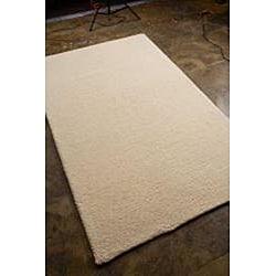 Hand-woven White Area Rug (8' x 11') - Thumbnail 1