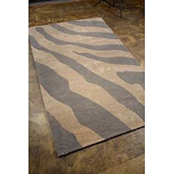 Hand-tufted Silver Wool Area Rug (3' 6 x 5' 6) - Thumbnail 1
