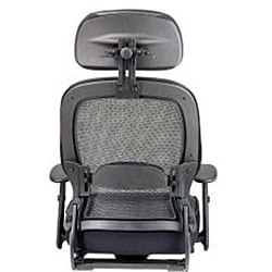 Breathable Black Mesh Manager's Chair with Adjustable Headrest
