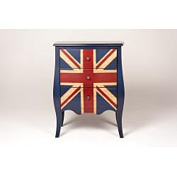 Union Jack 3-Drawer Mini Bombe Chest - Thumbnail 1