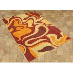 Alliyah Handmade Pompeain Red New Zealand Blend Wool Rug (4' x 6') - Thumbnail 1