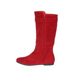 Story Women's 'Parker-1' Red Buckle Mid-Calf Boots - Thumbnail 1