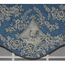RLF Home 'Chick A Dee Blue' Cornice Valance - Thumbnail 1