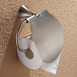 Kraus Amnis Bathroom Accessories - Tissue Holder with Cover Brushed Nickel - Thumbnail 1
