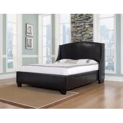 Oxford-X 4-Drawer King-size Leather Bed - Thumbnail 1