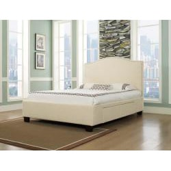Venice-X Wheat Fabric 4-Drawer Cal King-size Storage Bed - Thumbnail 1