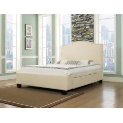 Venice-X Queen-size Four-Drawer Wheat Fabric Storage Bed - Thumbnail 1