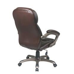 Office Star Executive Eco Leather Chair with Padded Arms and Coated Base - Thumbnail 1