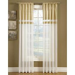 Top-down Reversible 95-inch Silk Banded Sheer Curtains