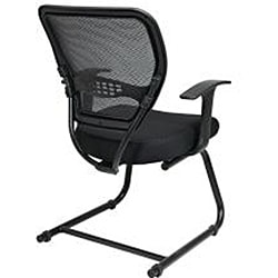 Office Star Professional Dark Air Grid Back Mesh Seat Visitors Chair - Thumbnail 1