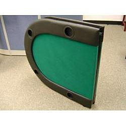 Bi-fold 73-inch Green Texas Hold'em Poker Table - Thumbnail 1