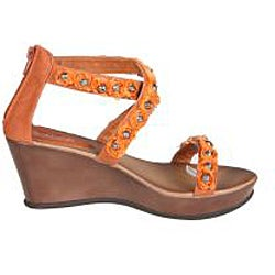 Refresh by Beston Women's 'Summer-02' Orange Wedge Sandal