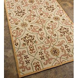 Hand-hooked Area Rug (7'6 x 9'6) - Thumbnail 1