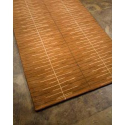 Hand-tufted Brown Abstract Wool Area Rug (2' x 3') - Thumbnail 1