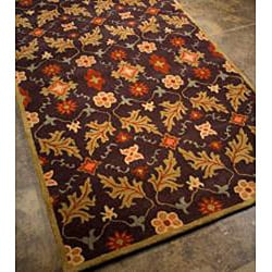Hand-tufted Coffee Wool Rug (8' x 11') - Thumbnail 1