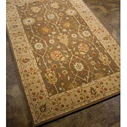 Hand-tufted Brown/ Sand Wool Rug (9'6 x 13'6) - Thumbnail 1