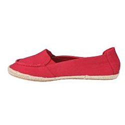 Refresh by Beston Women's 'Lala' Red Canvas Boat Shoes