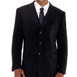 Divine Apparel Men's Two-piece Black Suit - Thumbnail 1