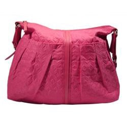 Pink Flush Quilted Diaper Bag