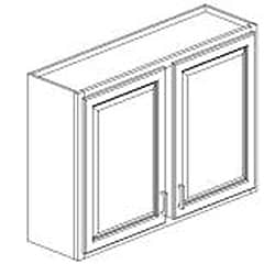 Rich Cherry 42-inch Wall Cabinet - Thumbnail 1