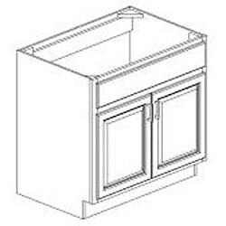 Rich Cherry Sink Base 36-inch Cabinet