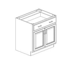 "Honey Base Kitchen Cabinet, 34.5 high x 33"" wide x 24 deep - Thumbnail 1"