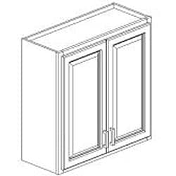 Honey Stained 30-inch Wall Kitchen Cabinet - Thumbnail 1