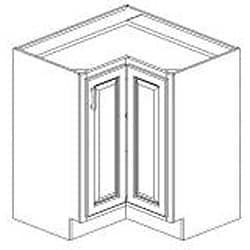Base Painted White 36 x 34.5 in.  Easy Reach Cabinet - Thumbnail 1