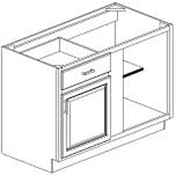 Blind Base Painted White 48 x 34.5 in. Cabinet