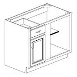 Blind Base Painted White 42 x34.5 in.  Cabinet - Thumbnail 1