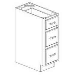 Heritage Classic Painted White Draw 12 in W x 34.5 in H x 24 in D  Base Cabinet