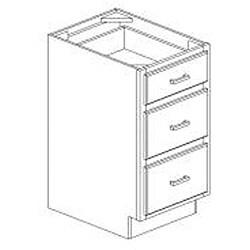 Honey Stain/Chocolate Glaze 18-inch Draw Base Kitchen Cabinet
