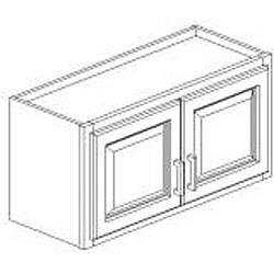 Honey Stain/Chocolate Glaze Wall Kitchen Cabinet (15x30)