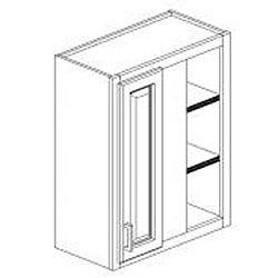 Cherry Stain/Chocolate Glaze Wall Blind Corner Kitchen Cabinet (30x24)