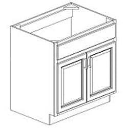 Sink Base Antique White Cabinet - Thumbnail 1