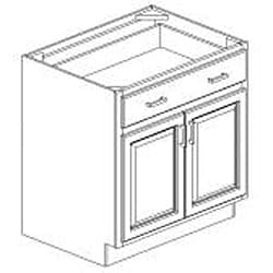 Base Antique White 33 x 34.5 in.Cabinet